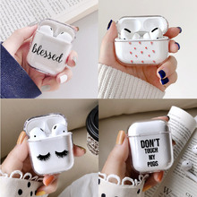 Earphone-Case Protective-Cover-Accessories Airpods Pro Cute Transparent for Apple Charging-Box