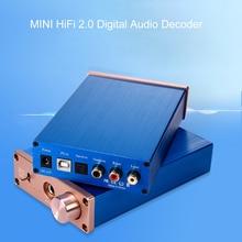 HiFi 2.0 الرقمية محلل شفرة سمعي DAC مكبر للصوت DC12V DAC المدخلات USB/محوري/الإخراج البصري RCA/مكبر للصوت 24Bit/96KHz