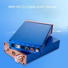 HiFi 2.0 Digital Audio Decoder DAC Amplificatore DC12V DAC Ingresso USB/Coassiale/Ottica di Uscita RCA/Amplificatore 24Bit /96KHz