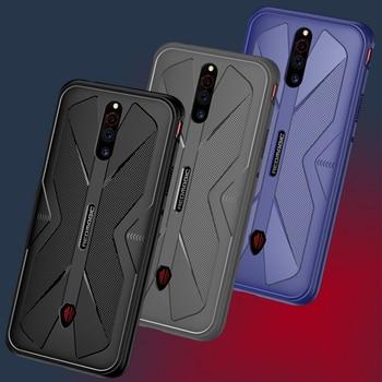 Перейти на Алиэкспресс и купить Nubia Red Magic 5S Роскошный чехол Nubia Red Magic 5G чехол Мягкая Силиконовая защита для телефона из углеродного волокна задняя крышка противоударный чех...