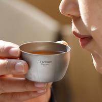 Мини титановая чашка кружка 50 мл Сверхлегкая уличная посуда путешествия Кофе Чай Кемпинг горшок воды чашки приготовления пищи