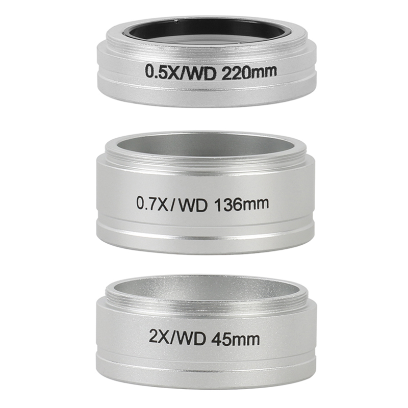 WD 0.5X 0.7X 2.0X G-AL Trinocular Microscope Stereo Microscope Auxiliary Objective Lens Barlow Lens For Nikon SMZ645 SMZ745