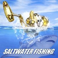 full metal gold Lever Drag Trolling Reel for Saltwater Fishing Bite Alarm 8+1+1 NMB Japan Bearings Aviation Aluminum Structure