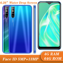 7a tela gota de água quad core 13mp smartphones globais 4g ram 64g rom android 5.1 telefones celulares celulares wcdma face id desbloqueado