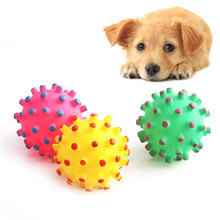Funny Soft Squeaky Pet Dog Ball Toys For Small Dogs Rubber Chew Puppy Toy Dog Stuff Dogs Toys Pets Training Dental Interactive(China)