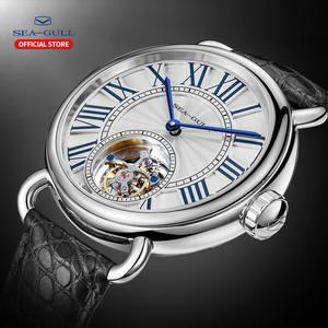 Couple Watch Mechanical-Watch Tourbillon Stainless-Steel Brand Luxury Seagull Skeleton