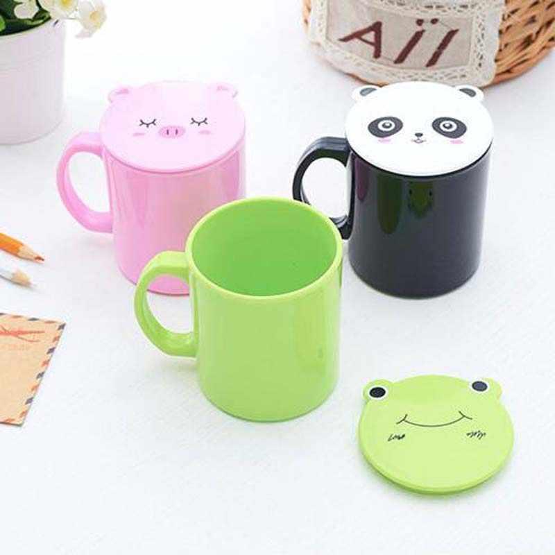 ¡Novedad de 240ml! Creativa copa de animales de oso, mono Rana, vaso retráctil portátil de ABS para niños, Taza de Viaje al aire libre