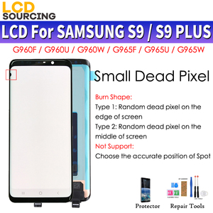 AMOLED ЖК-дисплей для SAMSUNG Galaxy S9, G960, G960F, сенсорный экран, дигитайзер в сборе для S9 + Plus, G965F, сменный, маленький, мертвый, Piexl