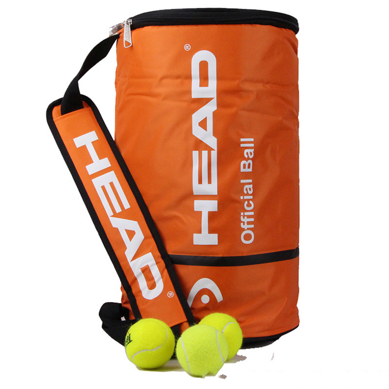 Head Official Tennis Bag Single Shoulder Tennis Racket Bags Large Capacity For 100 PCS Balls Outdoor Sports Training Accessories