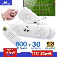Videogioco Console DATA FROG con Controller Wireless doppio 2.4G Mini gioco classico costruito nel 800 giochi NES supporto uscita HD