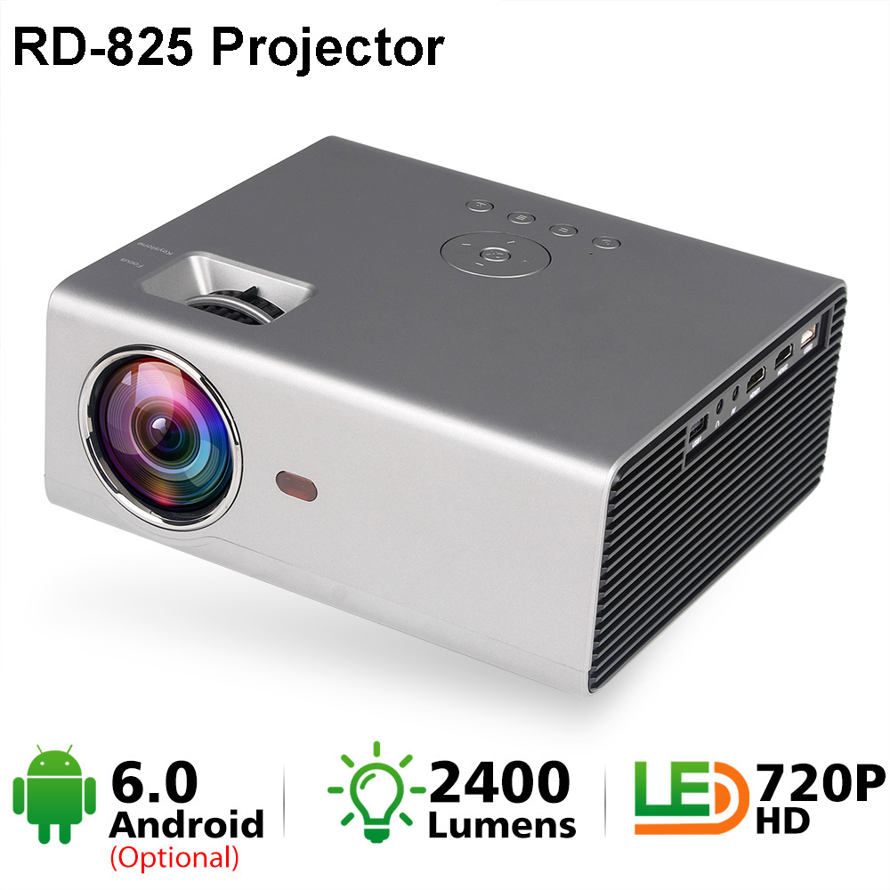 Mini Projector Native-Resolution RD825 Home Cinema Android 1080P Portable 1280x720p LED