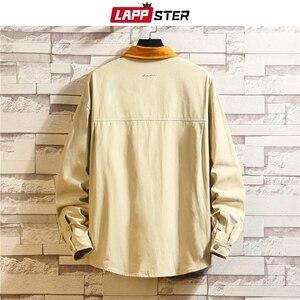 Image 4 - LAPPSTER chaquetas de moda coreana para hombre, ropa de calle japonesa, Color caqui, Harajuku, talla grande, 2020