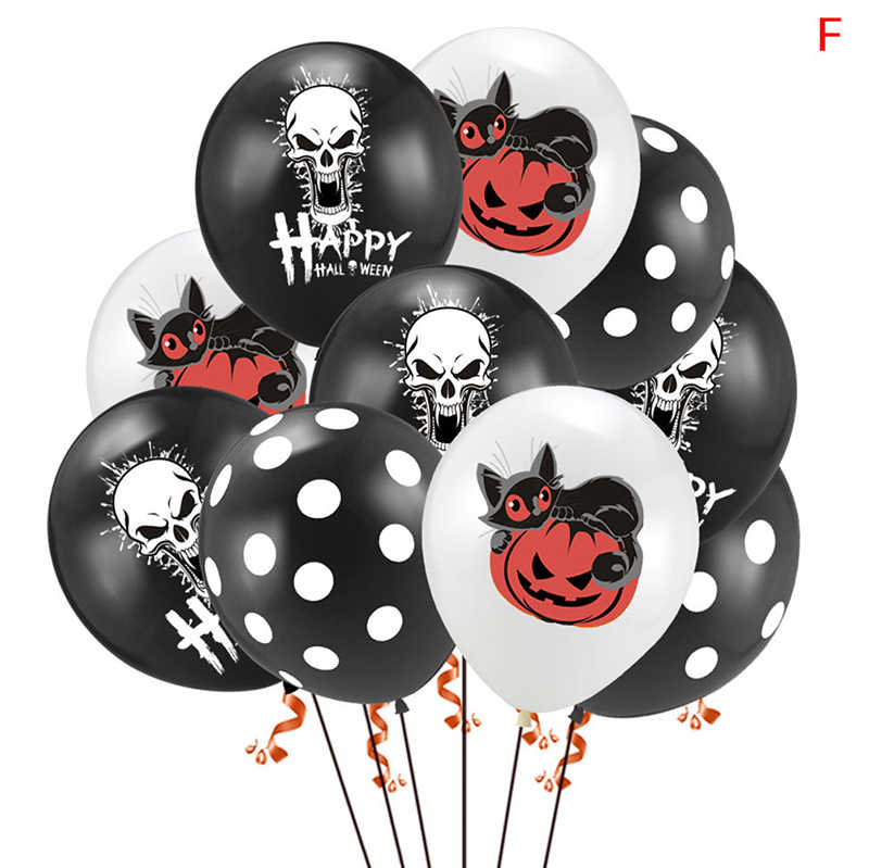 10 piezas calavera Halloween calabaza globos aire látex globos boda globos niños Baby Shower niño cumpleaños fiesta decoraciones