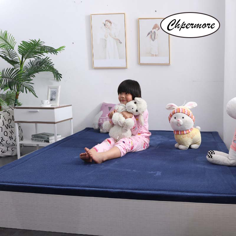 Chpermore Simple Solid Large Carpets Non-slip Tatami Mats Bedroom Home Lving Room Rug Floor Rugs Children's Non-slip Mat