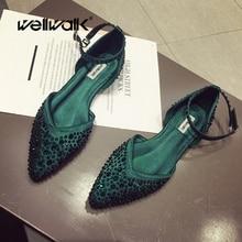 Dress Slingbacks Women Flats Shoes Silk