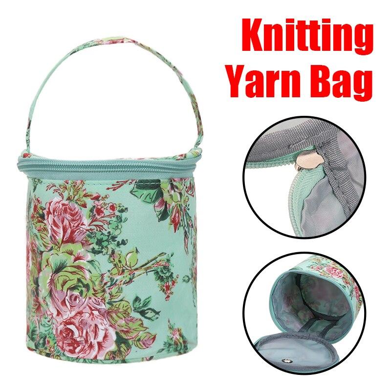 Knitting Bag Storage Bag Wool Yarn Crochet Sewing Needle Handbag Weaving Tool Tote Oxford Cloth Yarn Storage For Home Daily Use