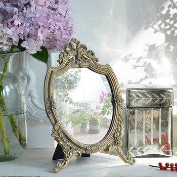 Espejo colgante de pared de baño de oro clásico, para el hogar...