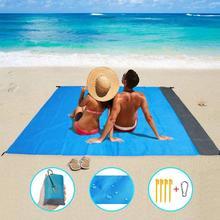 2*2 м портативный коврик для пикника, водонепроницаемый Пляжный коврик, карманное одеяло для кемпинга, палатки, наземный коврик, матрас для кемпинга, коврик для пикника