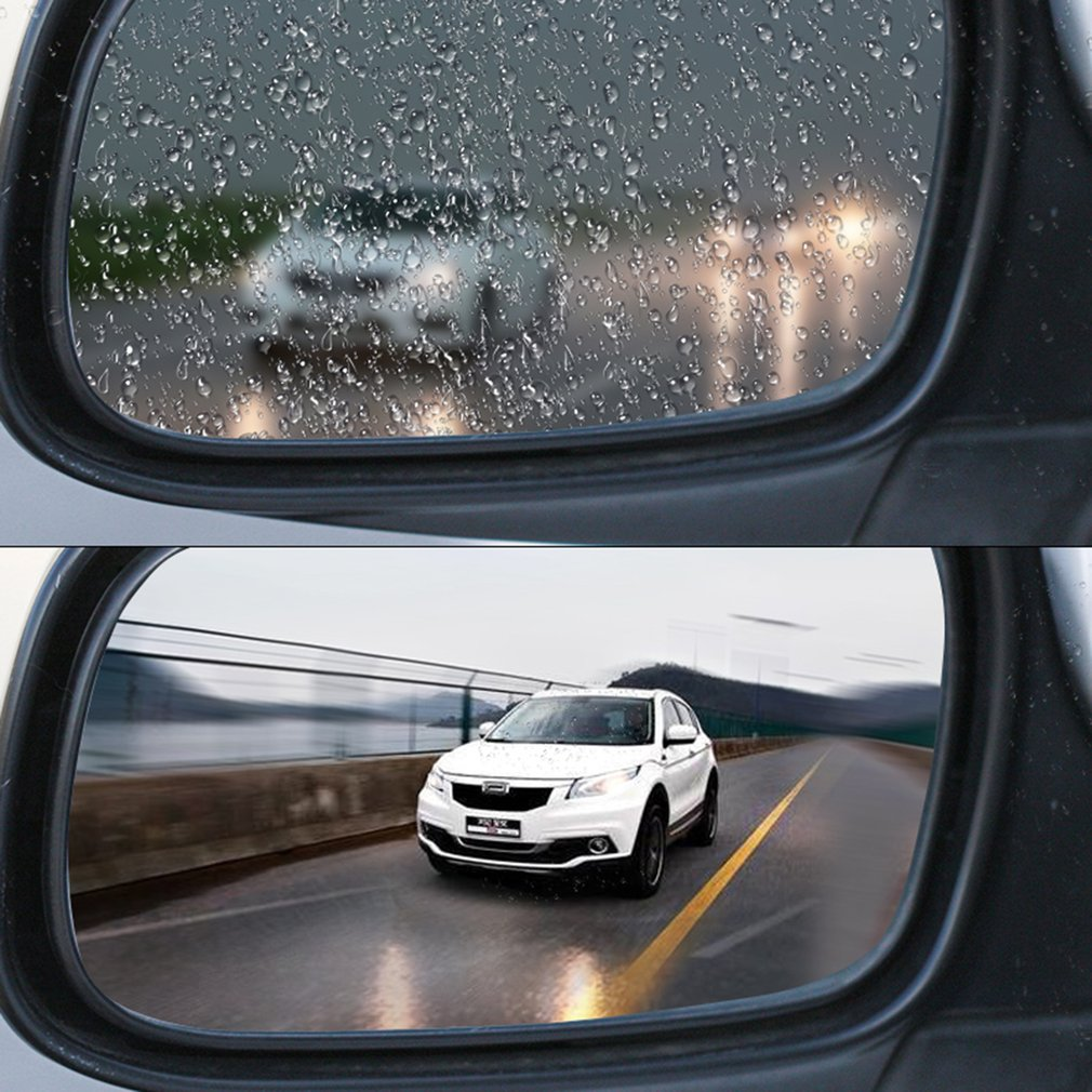 Car Rearview Mirror Protective Film Soft Film Anti-Water/Fog/Rain/Scrach Nano Coating Rainproof Mist Film for Car