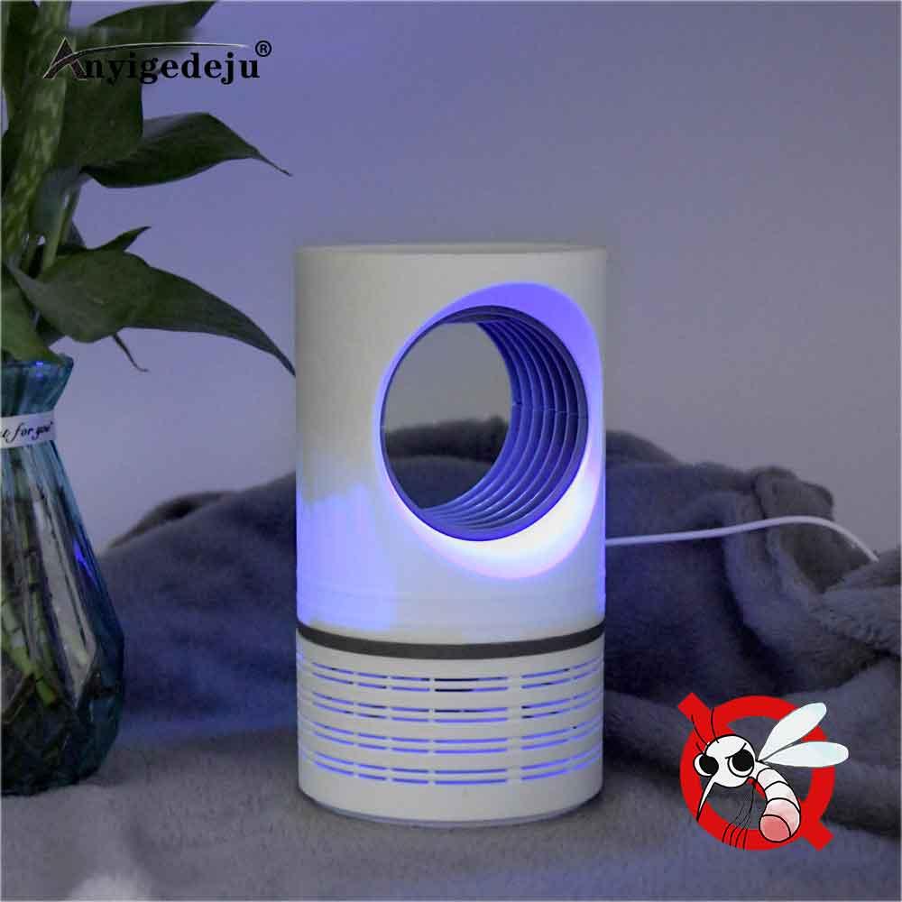 ANYIGEDEJU Led Mosquito Killer Lamp UV Night Light USB Insect Killer Bug Zapper Mosquito Trap Lantern Repellent Lamp Night Light(China)
