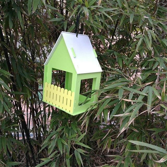Wooden Bird House Garden Deco  3