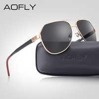 AOFLY Brand Design Pilot Men Sunglasses Polarized Vintage Metal Frame Driving Sun Glasses Male Mirror Goggles Shades Women UV400