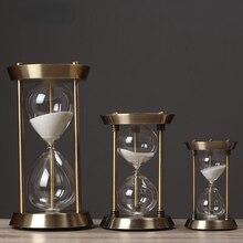Retro Metal Hourglass Sand Timer Metal Hourglass Sand Timer Glass Timer Sand Glass One Hour Glass Vintage Living Room Decor Gift