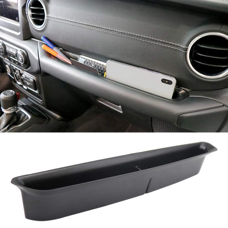 Grab Tray Passenger Storage Tray Organizer for 2018-2019 Jeep Wrangler JL JLU & 2020 Jeep Gladiator JT Grab Handle Accessory Box