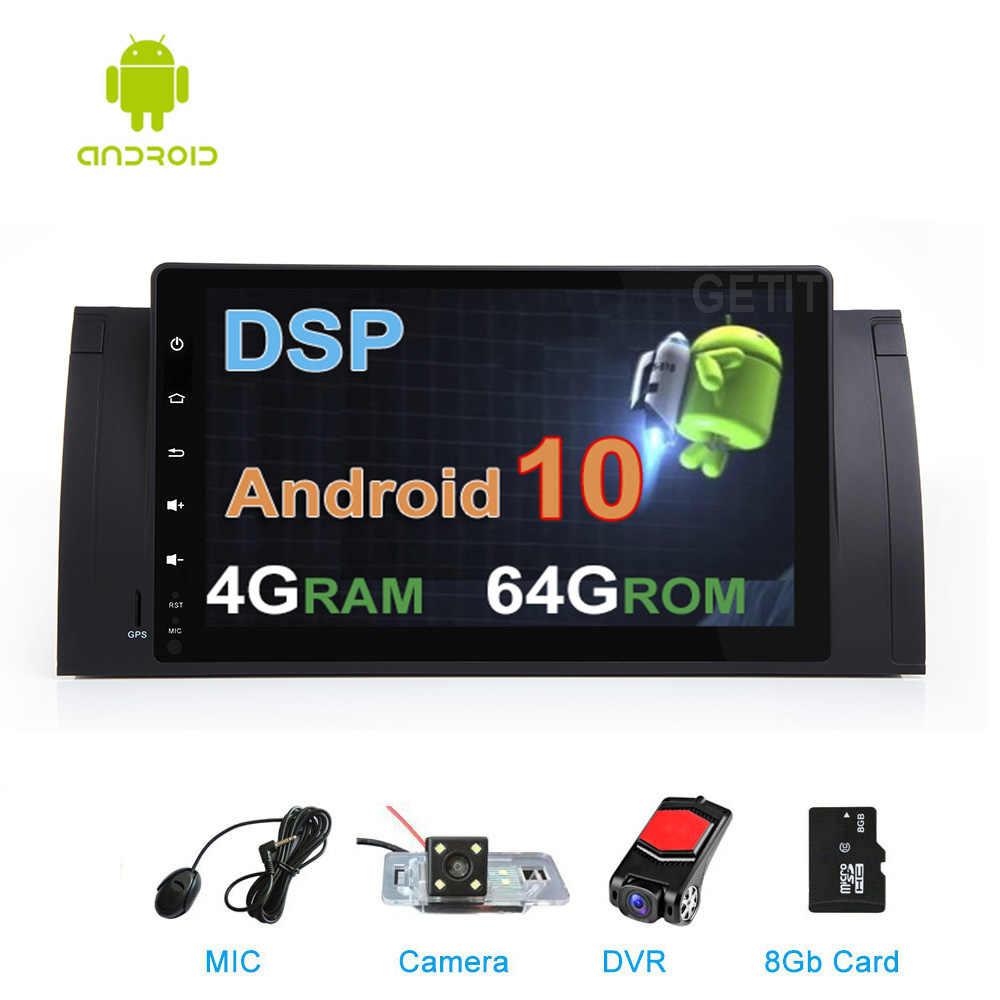 DSP IPS 64G voiture DVD stéréo multimédia Android 10 pour BMW E39 E53 M5 X5 avec Radio WiFi BT GPS Navigation