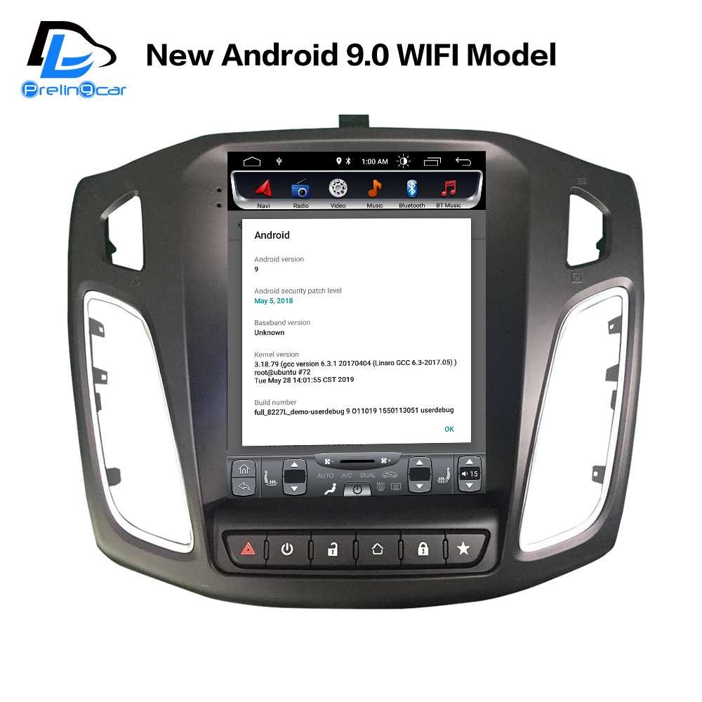 4G Lte Vertical screen android 9.0 car <font><b>gps</b></font> multimedia video radio player for <font><b>ford</b></font> <font><b>focus</b></font> salon 2012-2016 years navigation stereo image