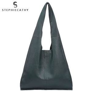 Image 1 - SC Brand Designer Big Genuine Leather Tote Bag Women Vintage Casual Leather Shopping Bag Leisure Shoulder Bag Large Handbag hobo