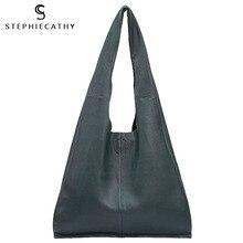 SC Brand Designer Bolso grande de mano de cuero genuino para mujer, bolsa de compras de cuero informal Vintage, bolsa de hombro de ocio, bolso grande hobo
