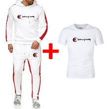 Brand New Clothing Men Sets Fashion Autumn Winter Sporting Suit Hoodies+sweatpants+t Shirts 3 Pieces Slim Tracksuit