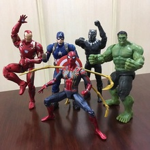 Marvel Avengers 16cm superhero characters PVC A movable joint doll Action-figures model Licensed ABS puppet with 16 arthrosis