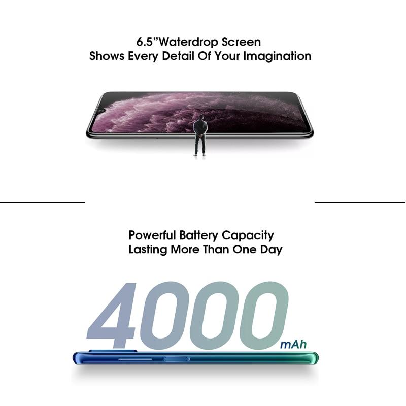 "ELEPHONE E10 Octa Core Smartphone 4GB 64GB 6.5"" Screen Quad Camera 48MP Main Cam Android 10 NFC Side Fingerprint Mobile Phone 4"