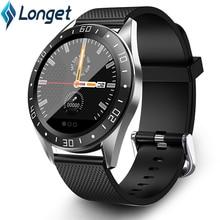Longet GT105 ساعة ذكية IP67 مراقب معدل ضربات القلب اللياقة البدنية ساعة ضغط الدم ساعة تنبيه عداد الخطى الرياضة ساعة ذكية الرجال النساء
