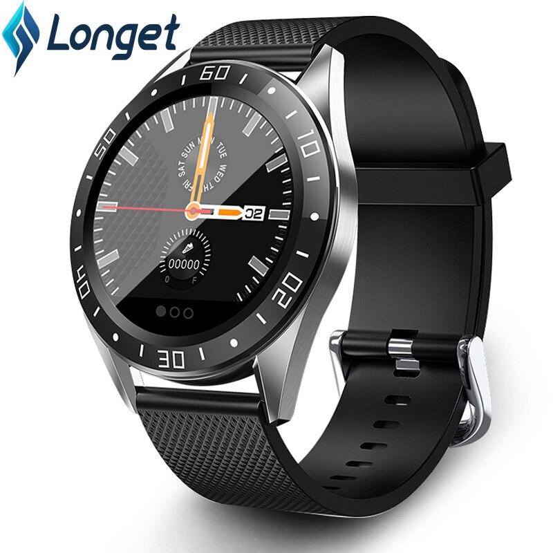 Reloj inteligente Longet GT105 IP67, Monitor de ritmo cardíaco, reloj de Fitness, podómetro despertador de presión arterial, reloj inteligente deportivo para hombres y mujeres