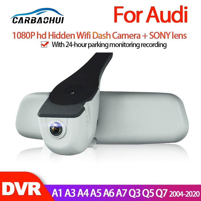 Para audi a1 a3 a4 a5 a6 a7 q3 q5 q7 2004-2020 carro mini câmera wifi completa hd 1080p traço carro cam gravador de vídeo original dvr ccd hd