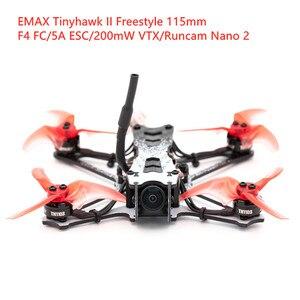 Квадрокоптер EMAX Tinyhawk II frestyle, 115 мм, 2,5 дюйма, с F4 ESC, 200 МВт, Runcam Nano 2 RC FPV, гоночный Дрон BNF, версия Frsky