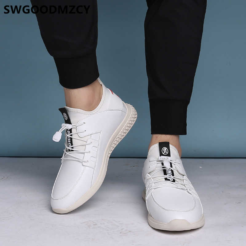 Elevator Shoes For Men White Sneakers