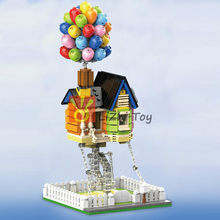603PCS MOC 7025 Flying Balloon House Up Suspending DIY Tensegrity Bricks Building Blocks Compatible with Assembles Ornaments