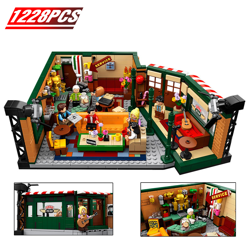 2020 New 1228Pcs Central Perk Cafe Mode  Friends Classic TV American Drama Friends L Building Block Bricks 21319 Toy