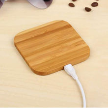 Qi Wireless Charger Slim Wood Charge Pad for iphone X XS Max