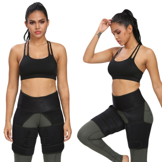 1pc Slim Thigh Trimmer Waist Shapers Slender Slimming Belt Sweat Shapewear Toned Muscles Band Thigh Slimmer Wrap 12 5