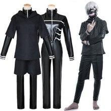 Прямая, костюмы на Хэллоуин, косплей костюм черный свитер с капюшоном, кожаная ткань+ маска+ парик