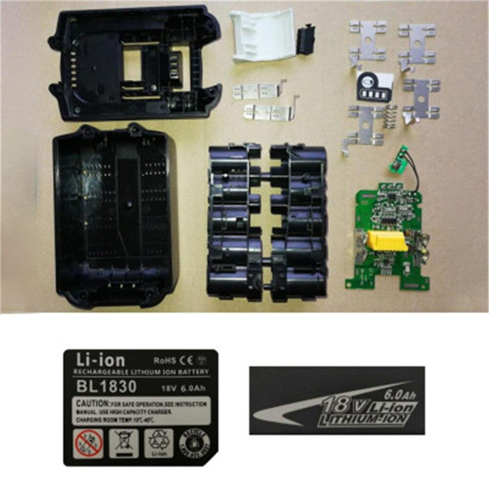 Battery Case Shell Charging Protection PCB Circuit Board Kit For MAKITA 18V BL1830 3.0Ah 5.0Ah BL1840 BL1850 Li-ion Battery Part