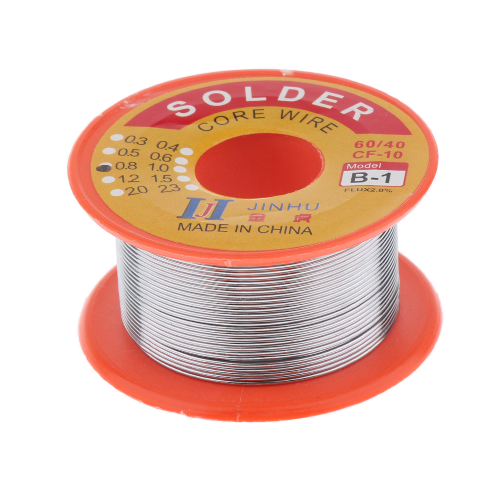 Tin Lead Solder Wire Rosin Core 2% Flux Iron Welding Tool 0.8mm Diameter 50G For Electrical And Electronics DIY Work