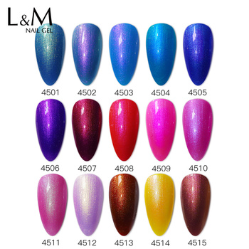 15PCS set High quality Shimmer Nail Gel polish ibdgel 15ml black bottle Bright Pearl Gel Series UV LED Soak off nail polish Glue