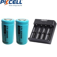 Battery Lithum Li-Ion-Battery-Charger Icr 18350 PKCELL 900mah with 1-4slots Charging-Usb