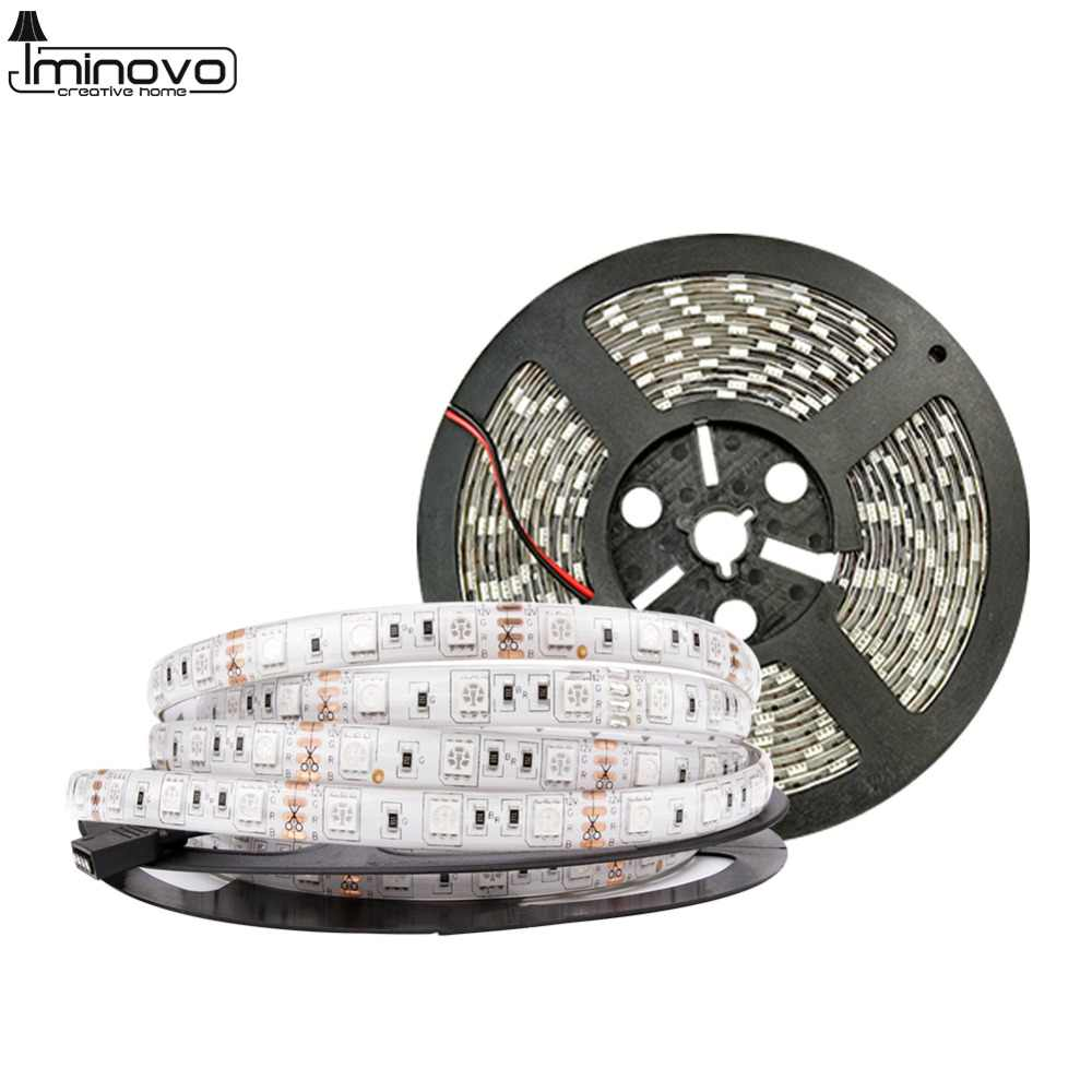 DC 12V LED Strip Light Flexible Diode Ribbon Tape RGB SMD 2835 5050 44Key Power Remote Full Set Waterproof 5M 10M 15M Lighting